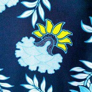 c9274a2528 LOFT Dresses - LOFT Sleeveless Blue   Yellow Button Dress